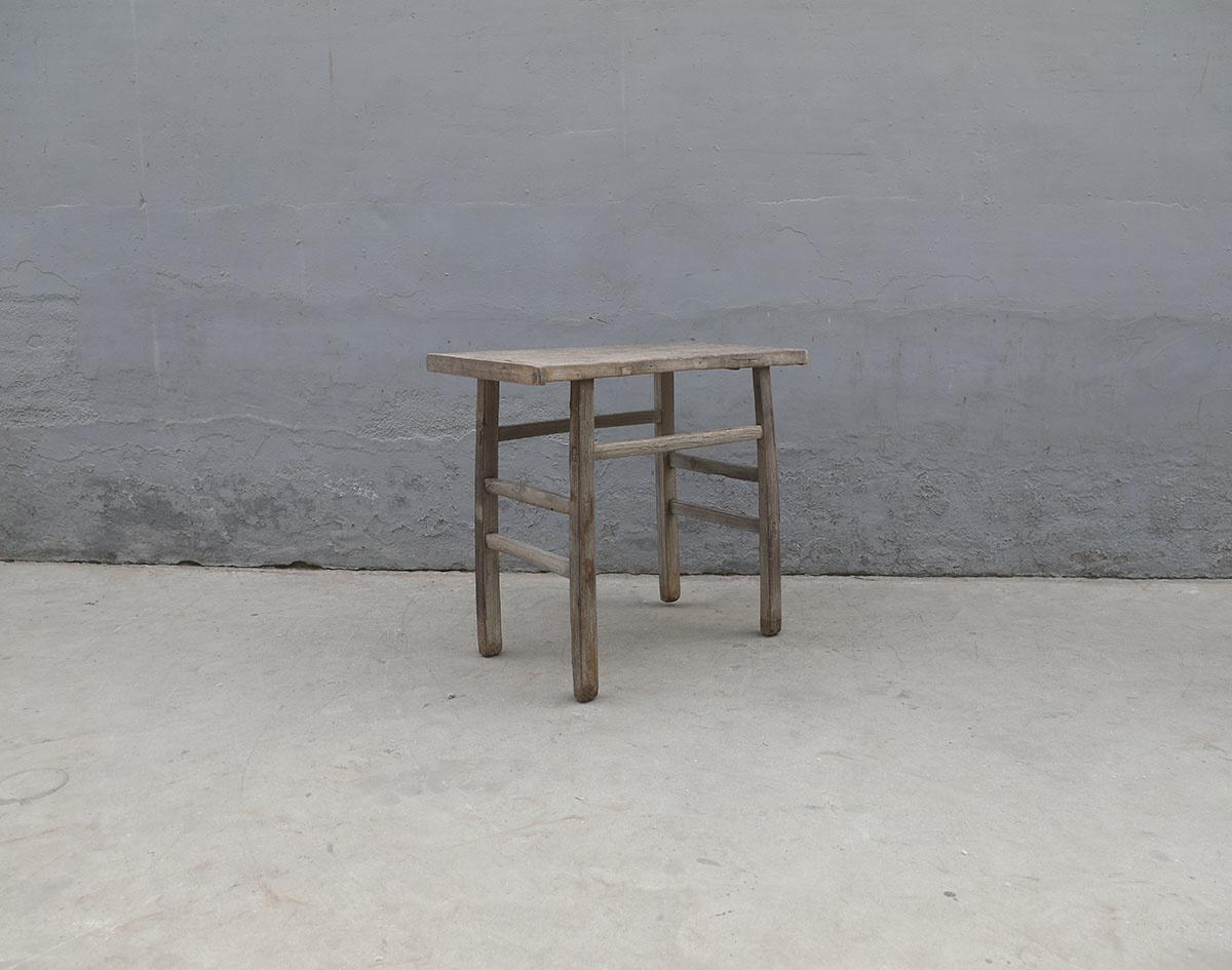 Maisons Origines Table console vintage en bois brut - Piece Unique - 96X47X83cm