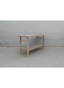 Maisons Origines Table console vintage en Bois d'orme - 151X48X82cm
