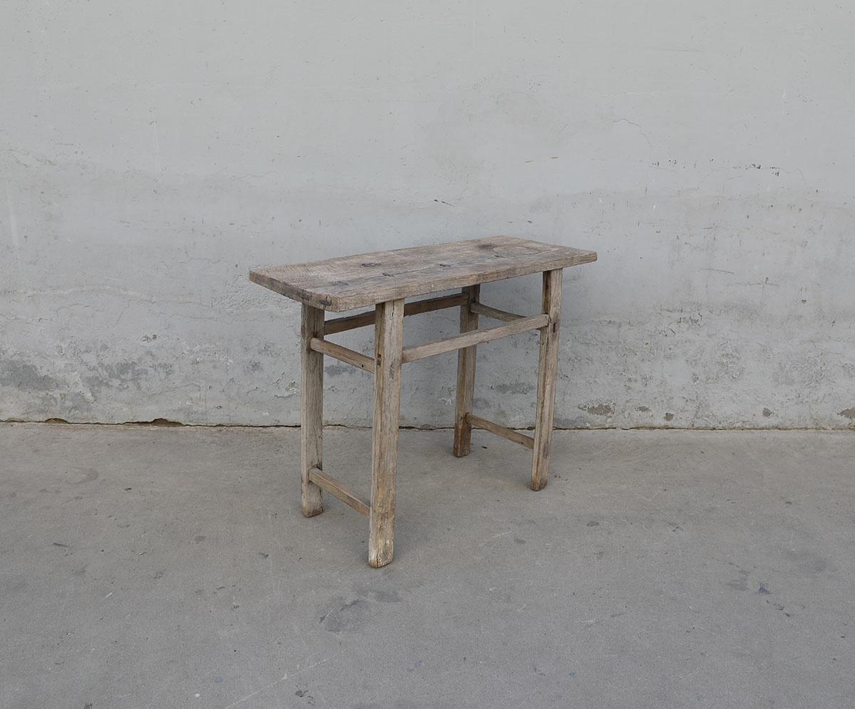 Maisons Origines Table console vintage en bois brut - Piece Unique -103X40X80cm