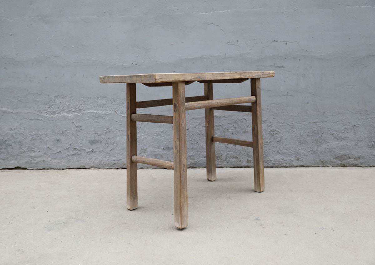 Maisons Origines Table console vintage en bois brut - Piece Unique - 108X47X81cm