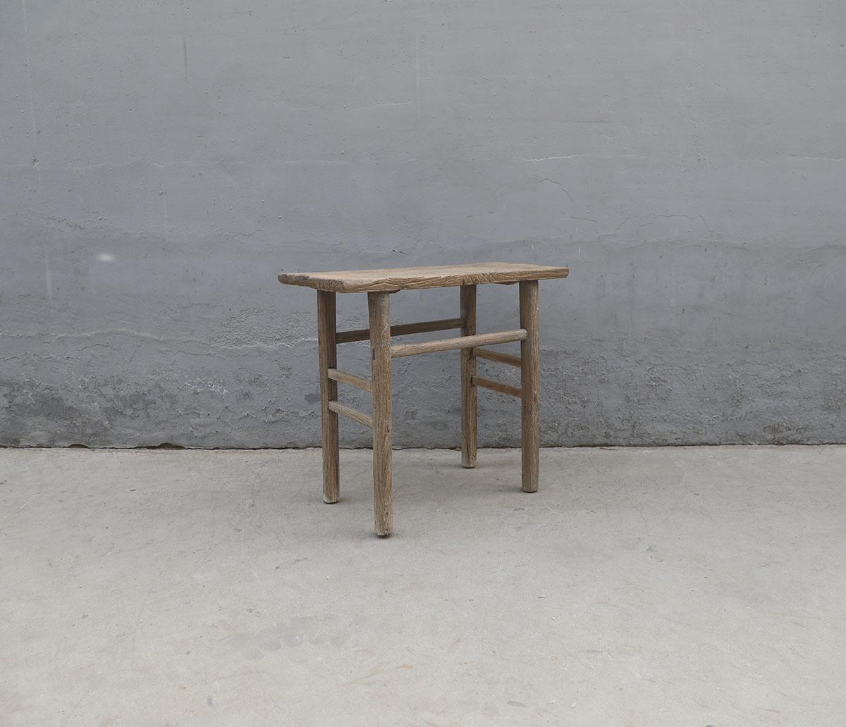 Maisons Origines Table console vintage en Bois d'orme - Piece Unique - 97X46X86cm