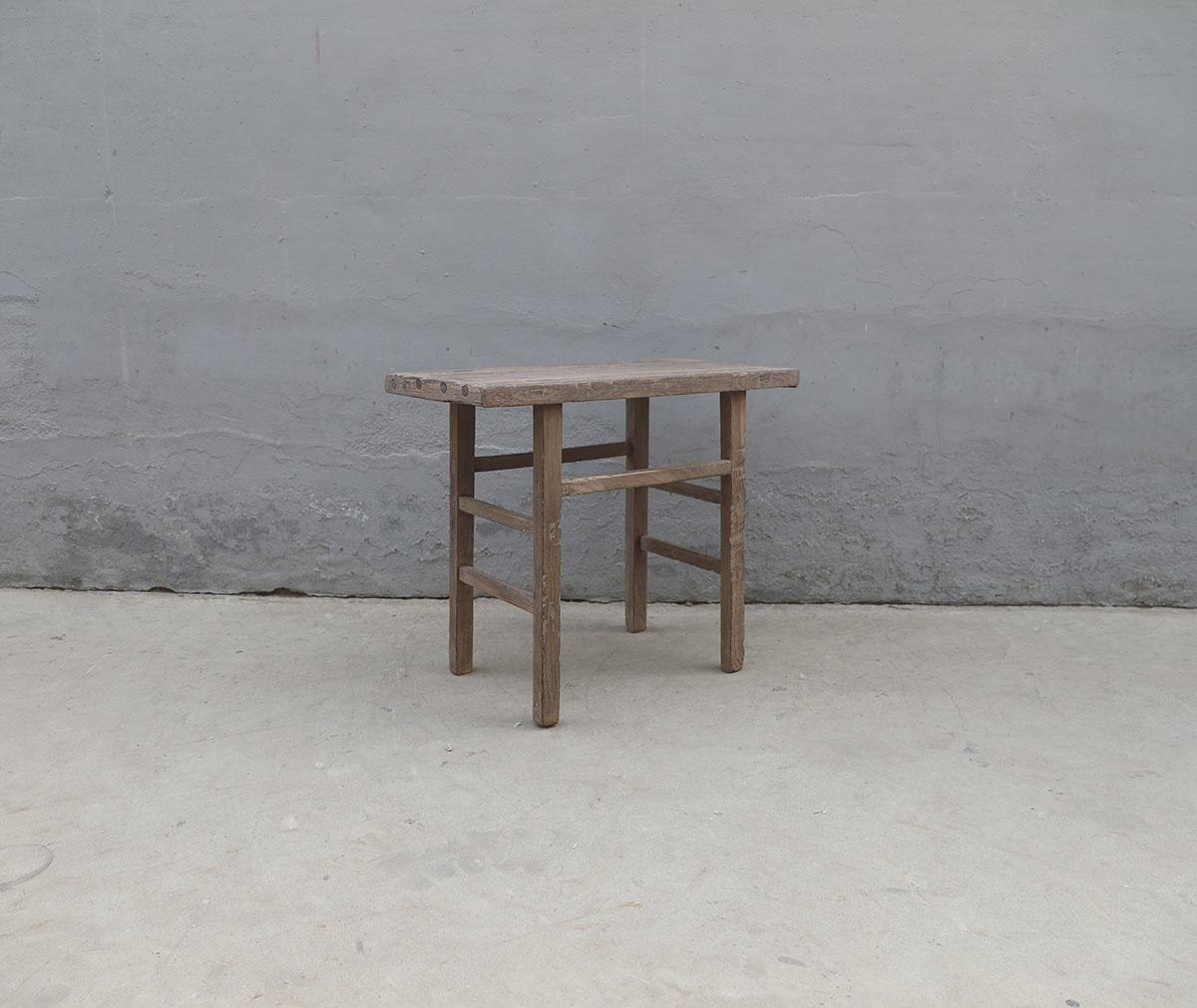 Maisons Origines Table console vintage en Bois d'orme - Piece Unique - 96X50Xh80cm