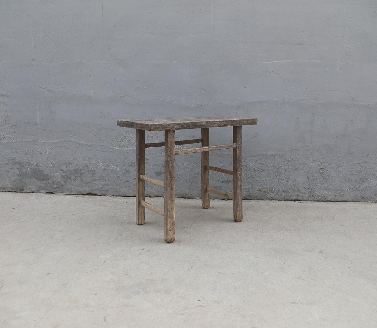 Maisons Origines Table console vintage en Bois d'orme - Piece Unique - 96X48Xh82cm