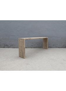 Maisons Origines Table console vintage en Bois brut - 220X38Xh86cm