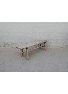 Maisons Origines Banc bois brut / Table basse - L176X37XH50cm - pièce unique