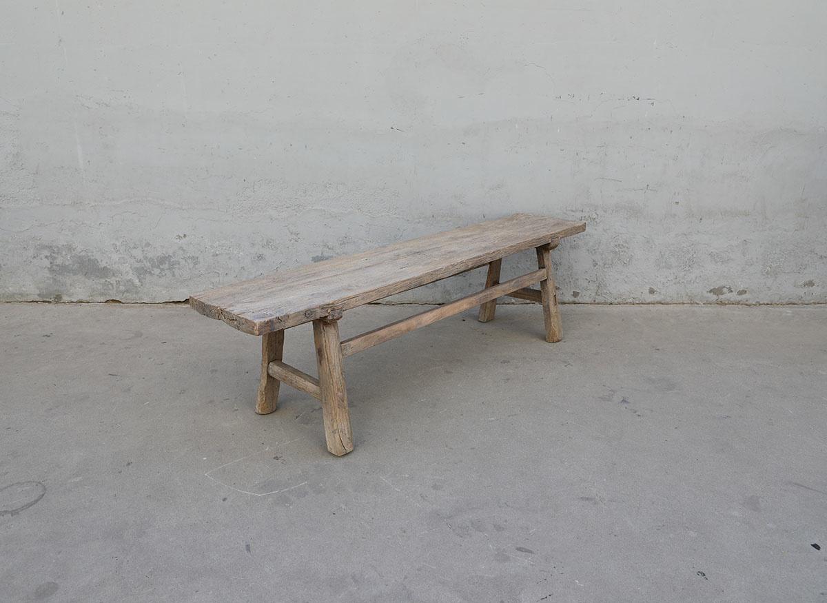 Maisons Origines Bench raw Wood / Coffee table - L176X37XH50cm - unique piece