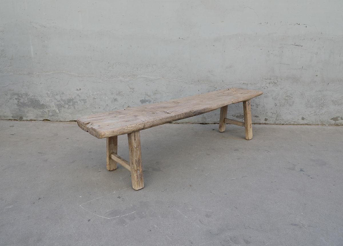 Maisons Origines Banc bois brut / Table basse - 167X34XH42cm - pièce unique
