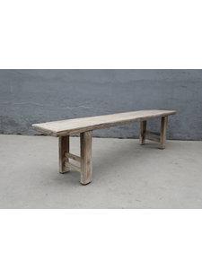 Maisons Origines Bench raw Wood / Coffee table - 200X38XH50cm - unique piece