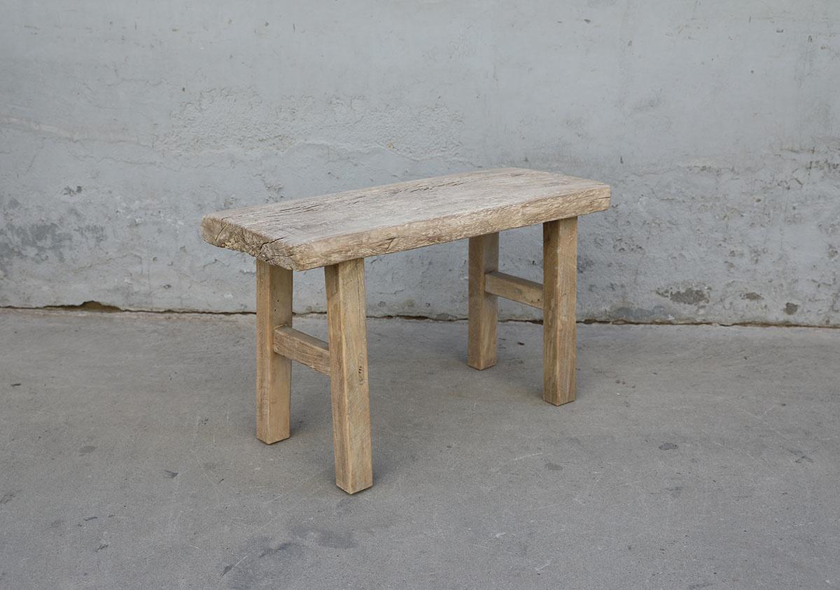 Maisons Origines Banc bois brut / Table basse - 82X34XH49cm - pièce unique
