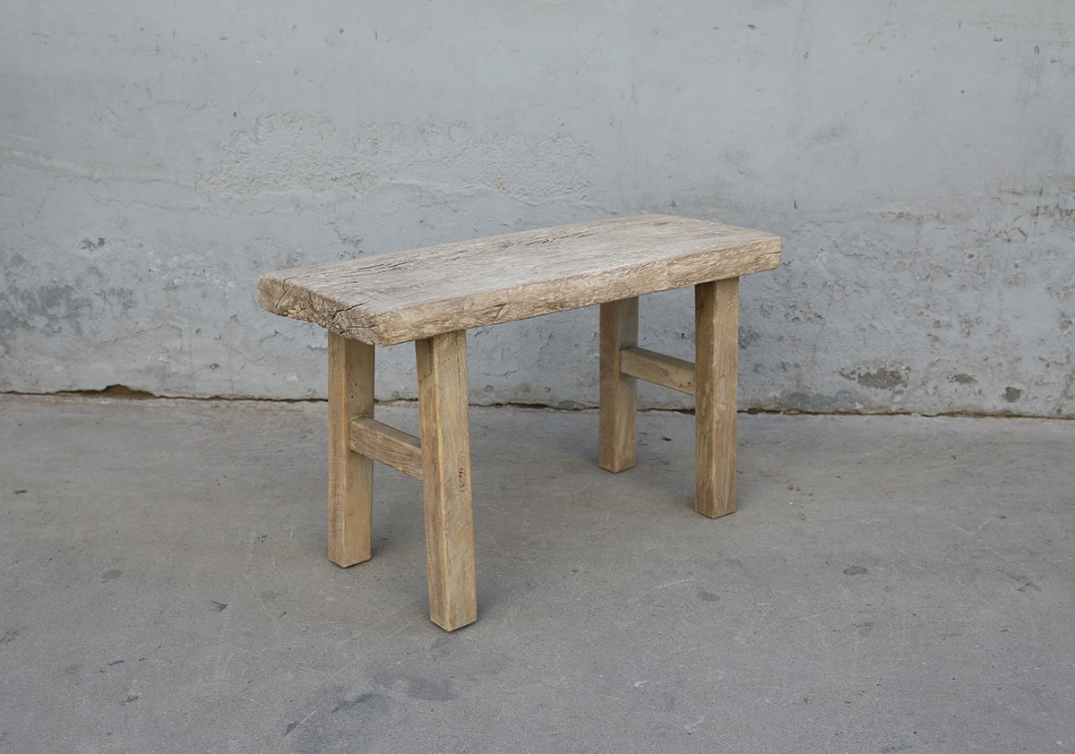 Maisons Origines Bench raw Wood / Coffee table - 82X34XH49cm - unique piece