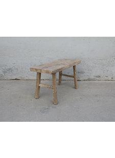 Maisons Origines Banc bois brut / Table basse - 90X36XH50cm - pièce unique