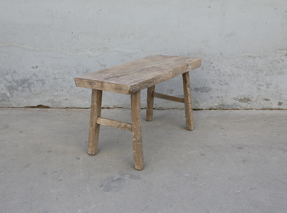 Maisons Origines Bench raw Wood / Coffee table - 90X36XH50cm - unique piece