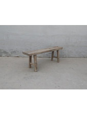Maisons Origines Banc bois brut / Table basse - 137X30XH50cm - pièce unique