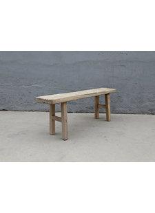 Maisons Origines Bench raw Wood / Coffee table - 130X29XH49cm - unique piece