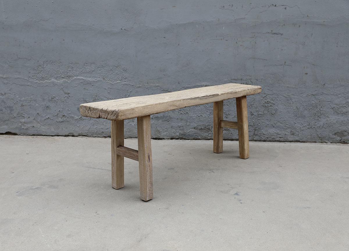 Maisons Origines Banc bois brut / Table basse - 130X29XH49cm - pièce unique