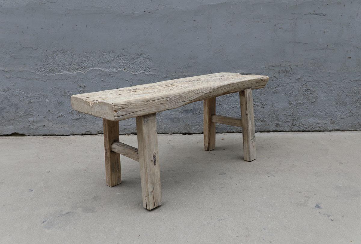Maisons Origines Banc bois brut / Table basse - 109X36XH49cm - pièce unique