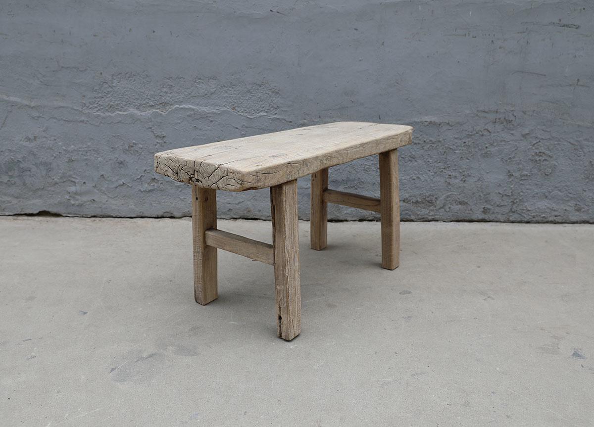 Maisons Origines Banc bois brut / Table basse - 91X36XH49cm - pièce unique