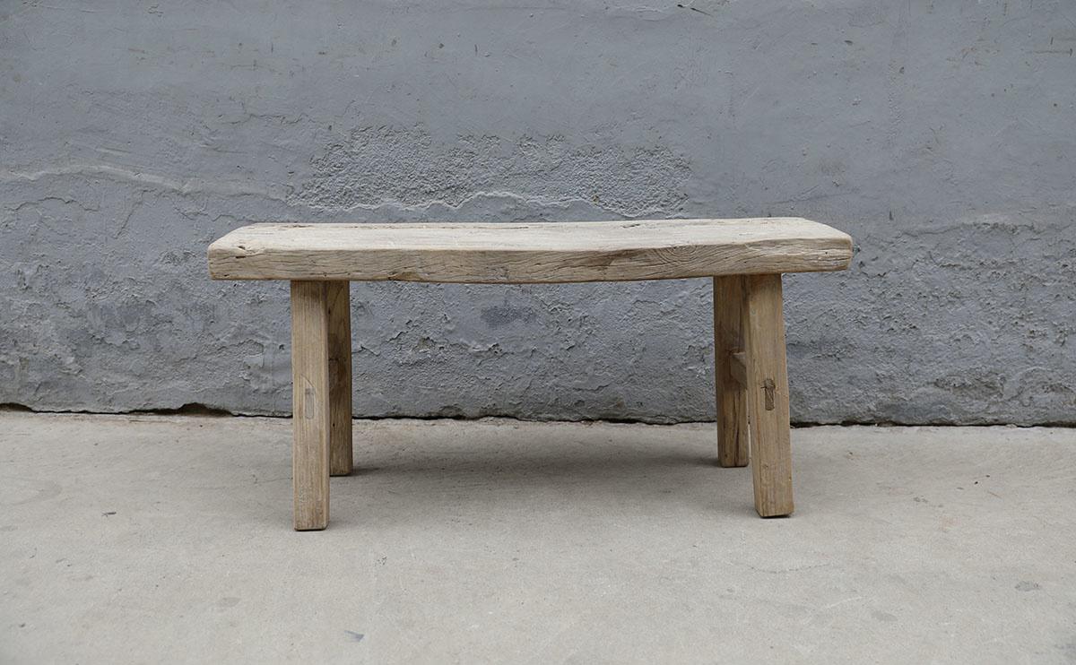 Maisons Origines Banc bois brut / Table basse - 106X30XH50cm - pièce unique
