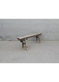 Maisons Origines Bench Raw Elm wood - 134X16X47cm - Unique Product