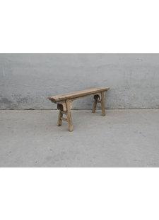 Maisons Origines Bench Raw Elm wood - 129X17X52cm - Unique Product