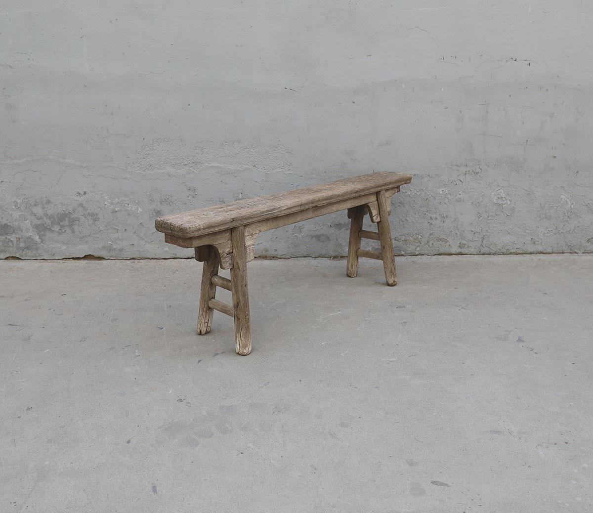Maisons Origines Bench Raw Elm wood - 140X18X50cm - Unique Product