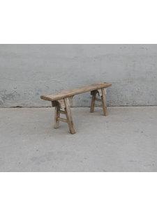 Maisons Origines Bench Raw Elm wood - 125X20X48cm - Unique Product