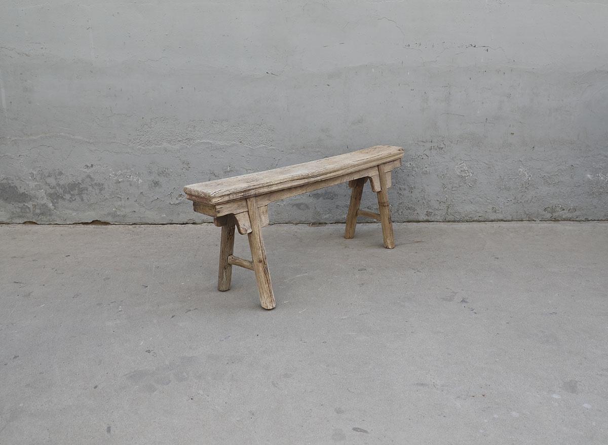 Maisons Origines Bench Raw Elm wood - 134X17X50cm - Unique Product