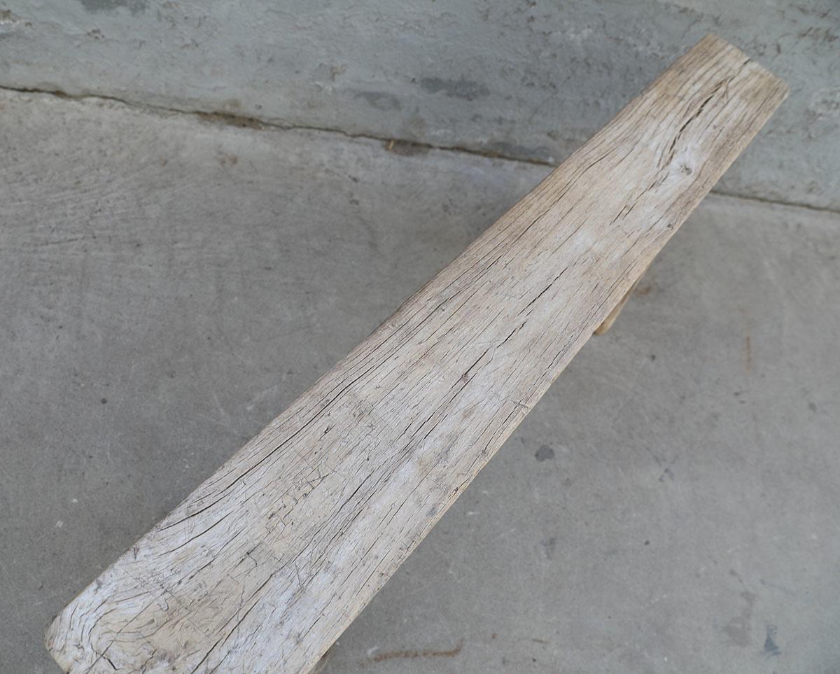 Maisons Origines Bench Raw Elm wood - 131X17X50cm - Unique Product