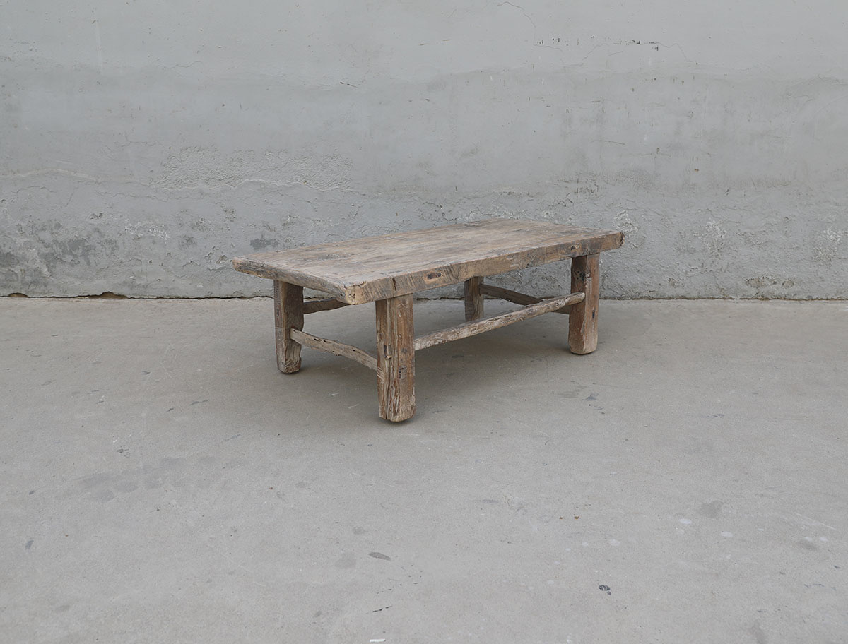Maisons Origines Coffee table vintage Raw Wood -111X59X40cm - unique piece