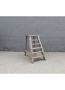 Maisons Origines Decoration Ladder Raw Wood - 62X45XH102cm - unique piece