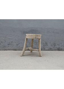 Maisons Origines Round Stool Ethnic - ø27xh51cm - elm wood - Copy