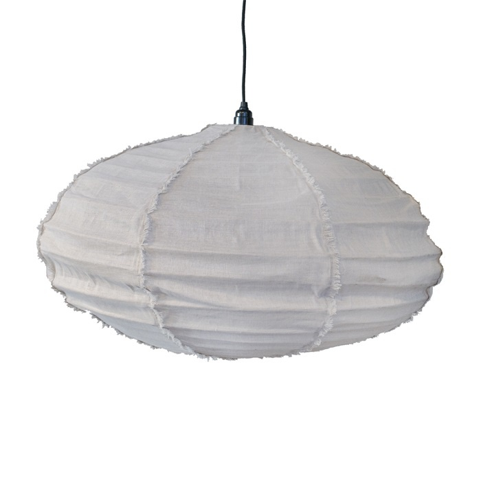 Ay Illuminate White pendant lamp 100% Linen - Ø80cm x H40cm
