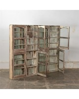 Petite Lily Interiors Vintage Wooden glass showcase - H159xL205xD15cm