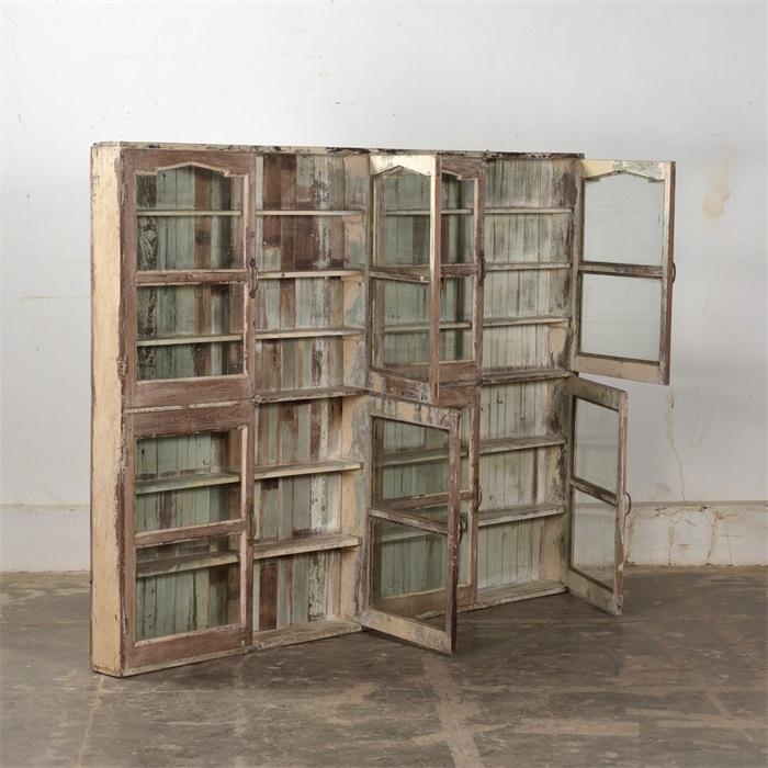 Petite Lily Interiors Vitrine vaisselier vintage - bois - H159xL205xD15cm