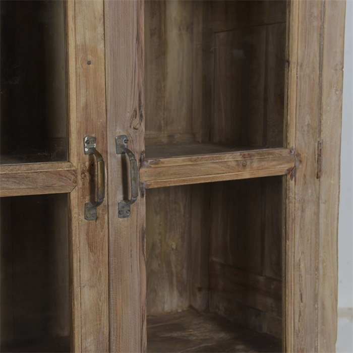 Petite Lily Interiors Vintage Wooden glass showcase/vitrine - H185xL94xD47cm