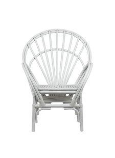 Petite Lily Interiors Chaise en Bambou blanche - 73x55cmxH101/43cm