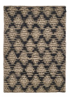 House Doctor Harlequin Rug - jute - Black/Natural - 85x130cm - House Doctor