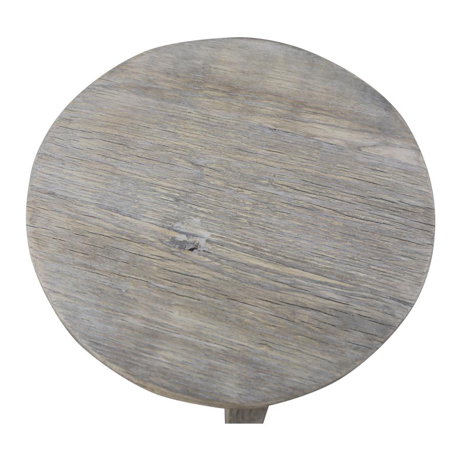 Petite Lily Interiors Round Bar Stool Ethnic - raw wood - ø30xh70cm - unique piece