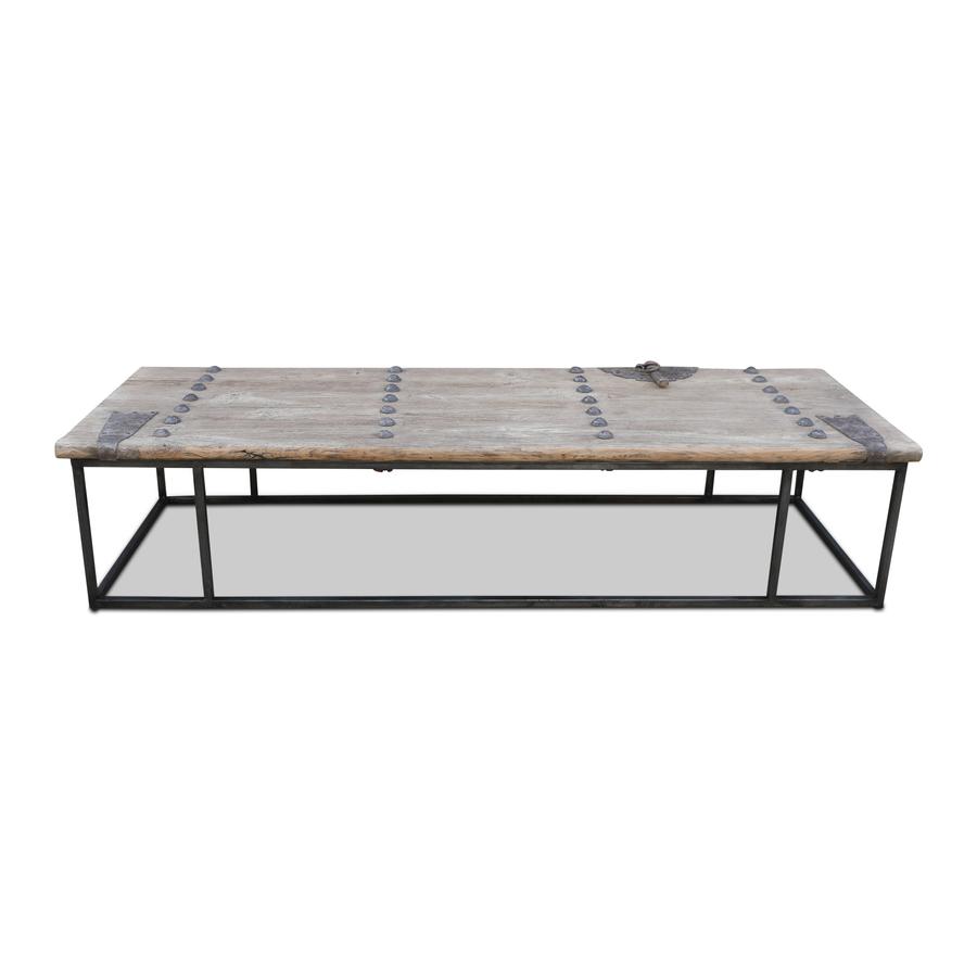 Snowdrops Copenhagen Coffee table w/ table top old door -181x63x40cm