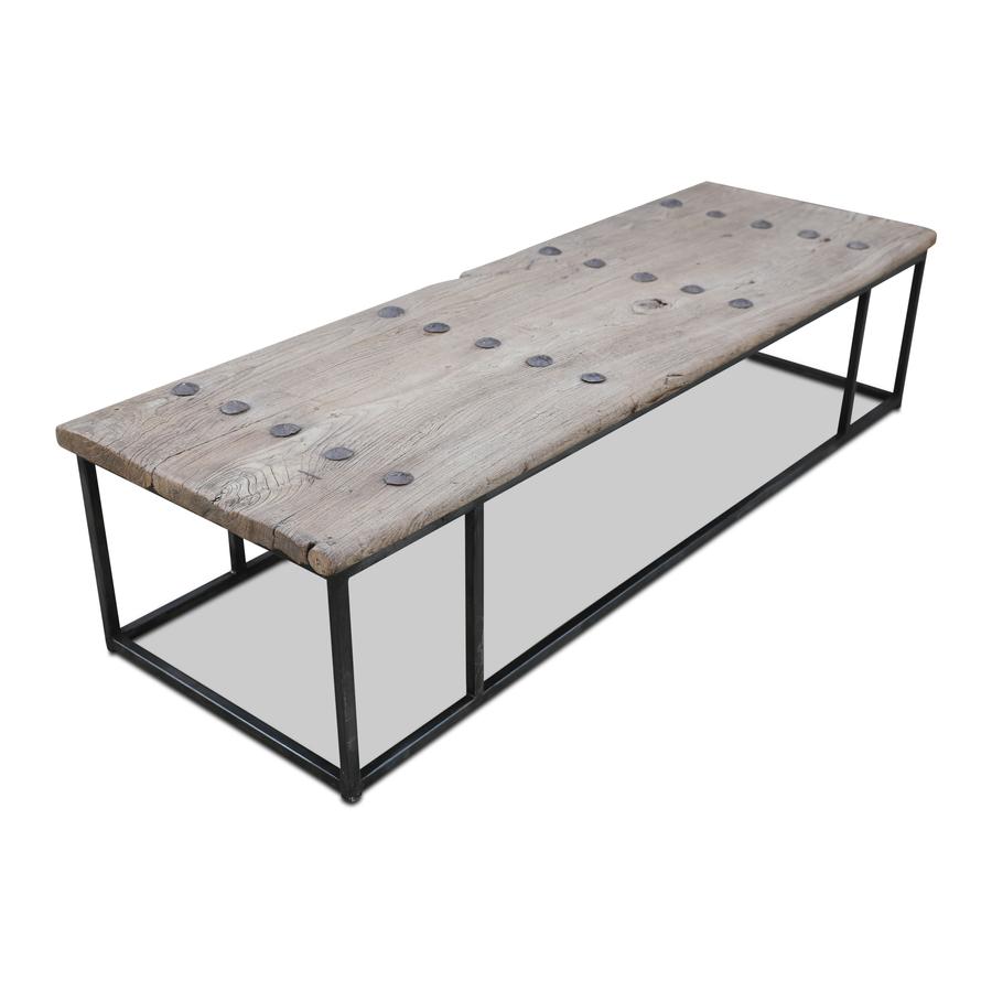 Snowdrops Copenhagen Coffee table w/ table top old door -171x56x40cm