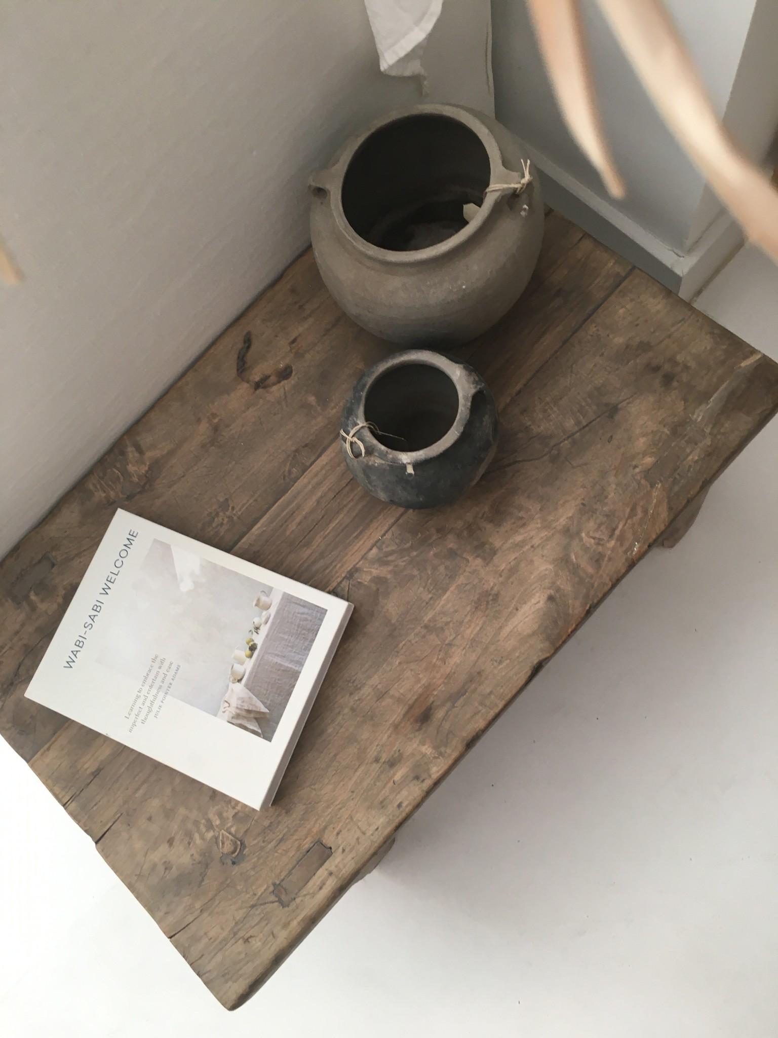 Snowdrops Copenhagen Table basse bois brut - 74x46x28cm - pièce unique