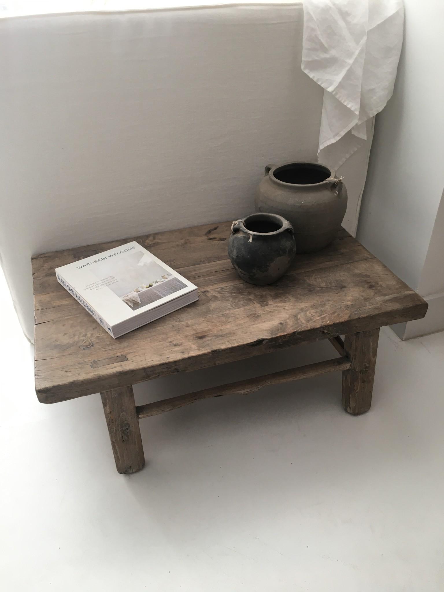 Snowdrops Copenhagen Coffee table vintage Raw Wood - 74x46x28cm - unique piece