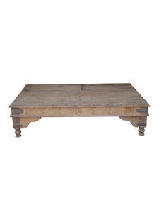 Petite Lily Interiors Indian coffee table wood -  180x112x40cm - unique item