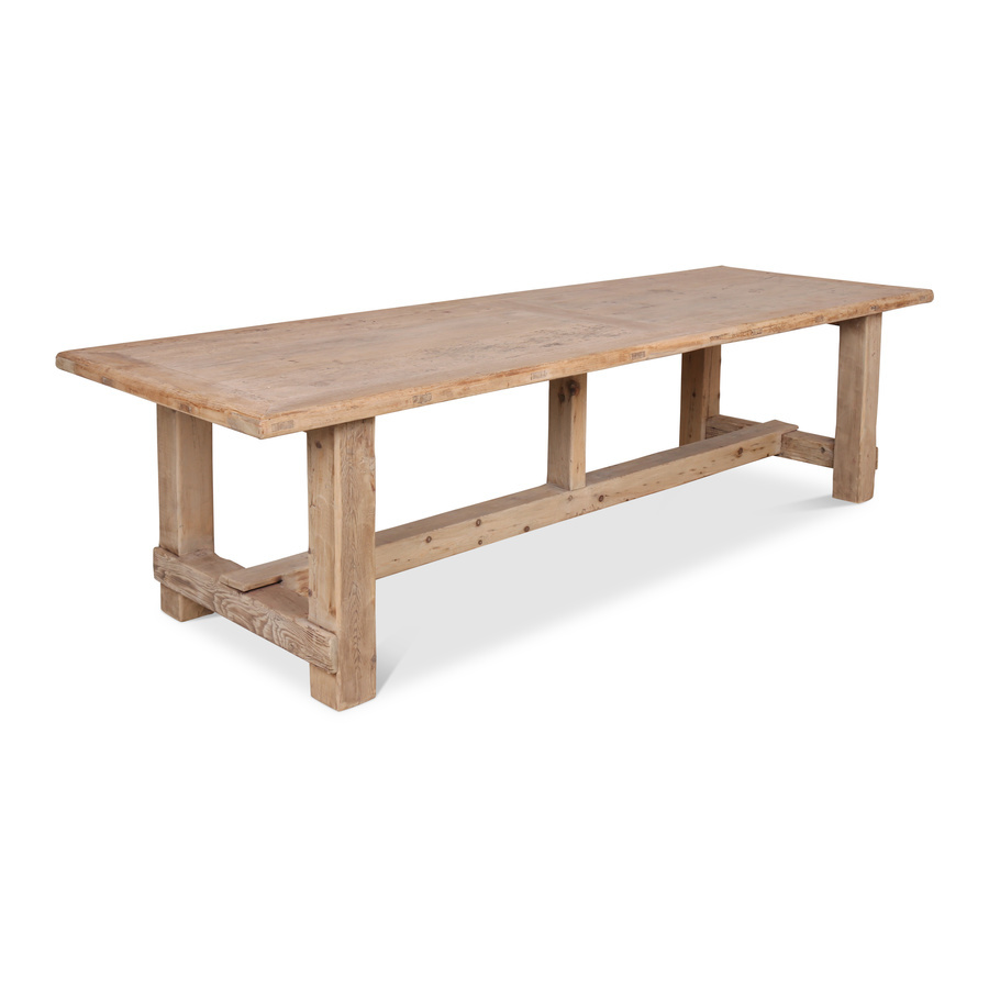 Petite Lily Interiors Dining room table raw wood - 300x100xh78H - unique item