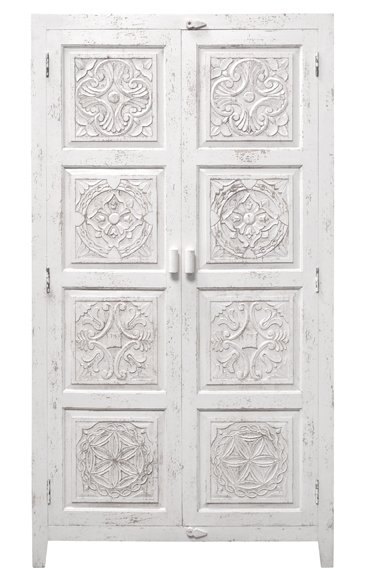 HK Living Ethnic Wardrobe Cabinet - white - HK Living
