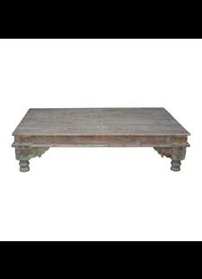 Petite Lily Interiors Indian coffee table wood - 188x120x64cm - unique item