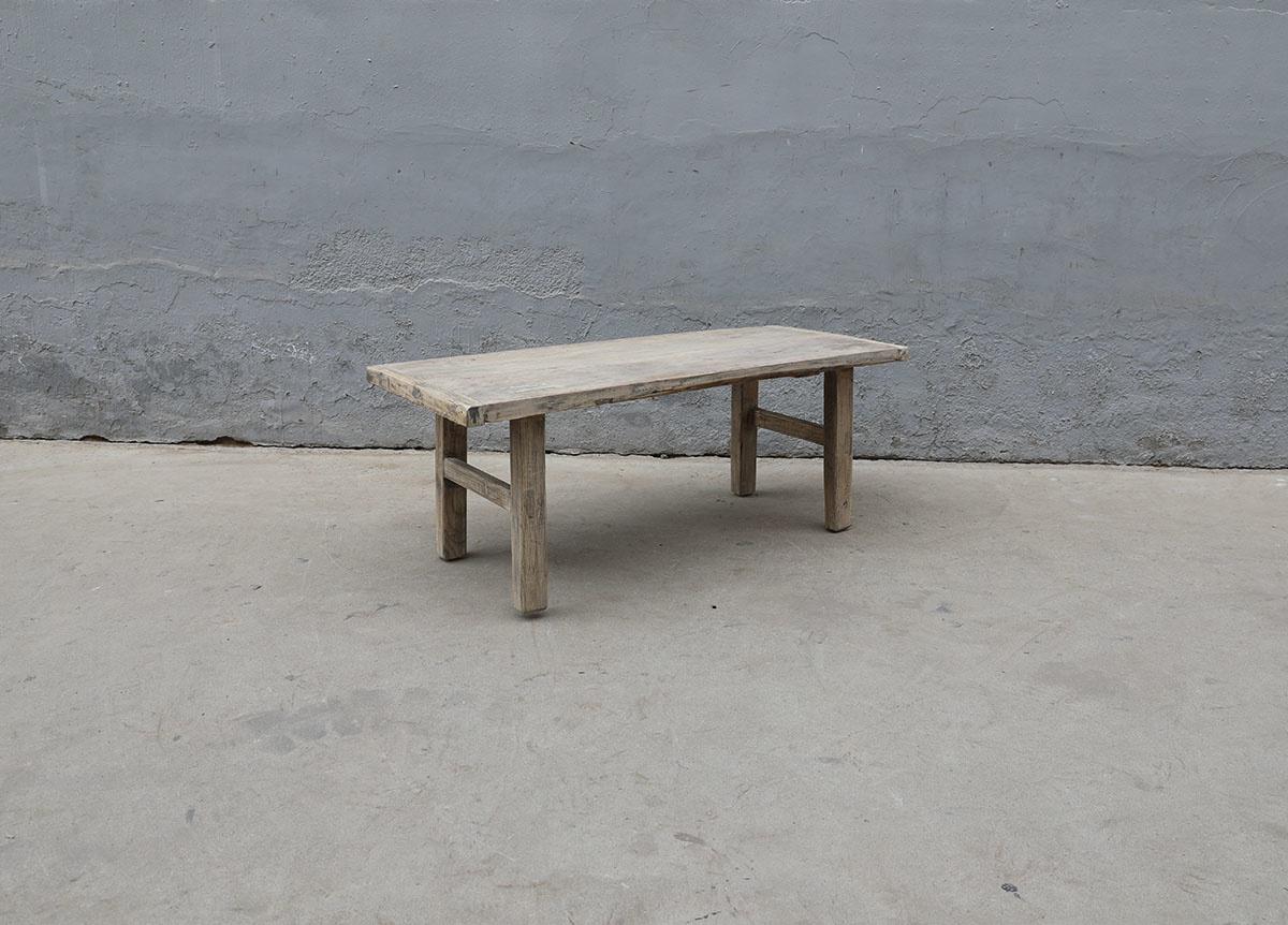 Maisons Origines Raw wood coffee table - 115X48XH44cm - recycled Walnut wood