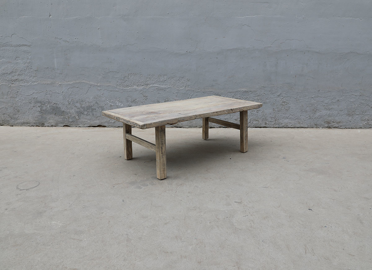 Maisons Origines Raw wood coffee table - 124X63XH43cm - recycled Walnut wood
