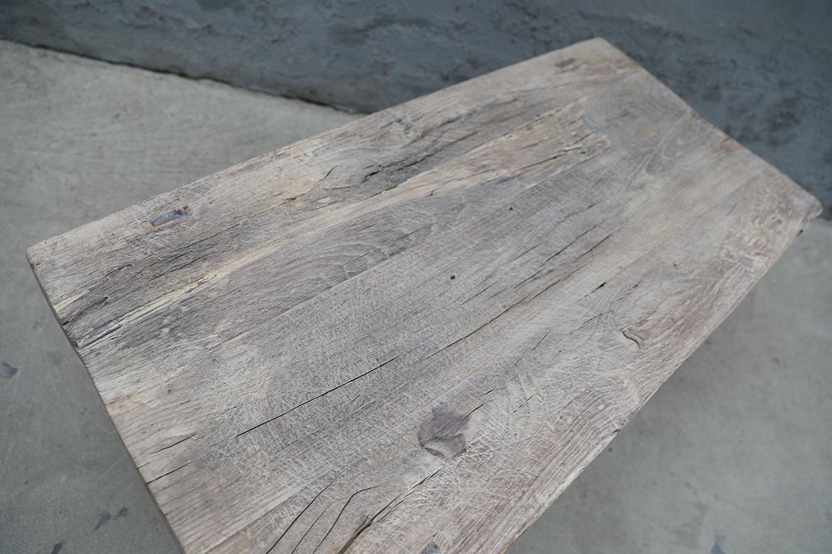 Maisons Origines Raw wood coffee table - 113X58XH47cm - recycled Walnut wood