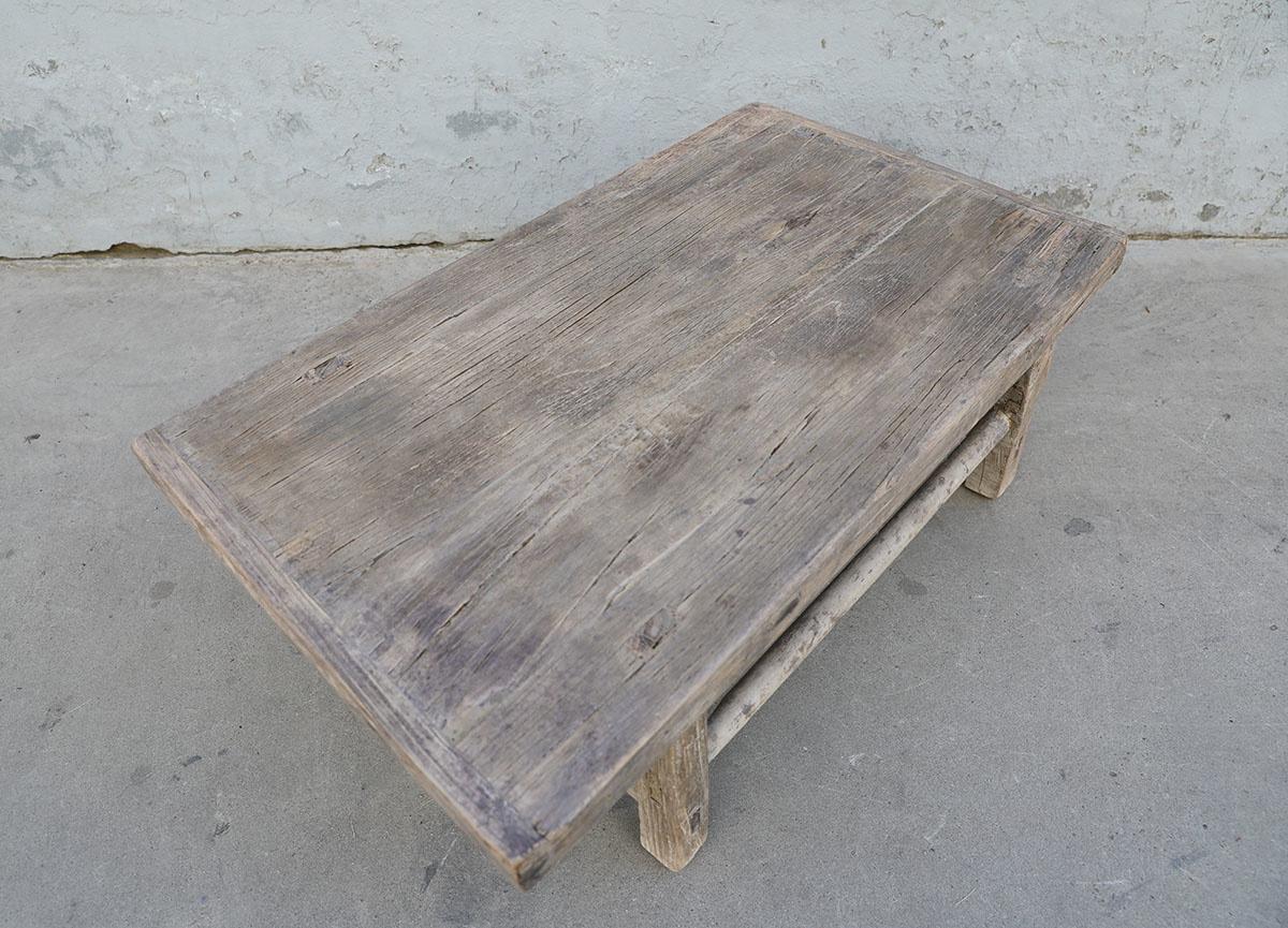 Maisons Origines Coffee table vintage Raw Wood -100X56XH35cm - unique piece